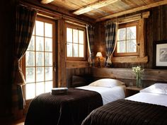 Luxury ski chalet with traditional characte. Luxury ski chalet with traditional characte. Cabin Homes, Cabin Bedroom, Home, Cabins And Cottages, Rustic Bedroom, Ski Chalet, House, Cabin Living, Log Homes
