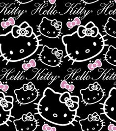 Sanrio Hello Kitty Bling Flannel Fabric, , hi-res