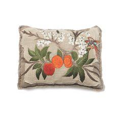 Bokja Embroidered Orange Blossom Cushion