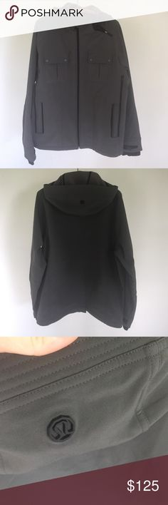 Mens lululemon coat Great condition super warm. Fleece lined. Water resistant outer. Slimming look lululemon athletica Jackets & Coats