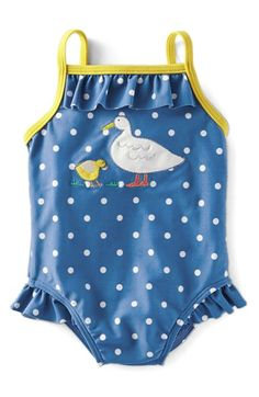 Mini Boden Print One-Piece Swimsuit (Baby Girls & Toddler Girls)