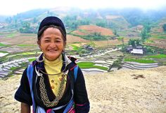 Sapa Nanna: I was temporarily adopted by a lovely lady named Cu during my time among the hill tribes in Sapa. Just look at that grin. So loveable.#travel #Hanoi