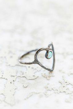 Rachel Pfeffer Designs Drip Heart Ring - Urban Outfitters