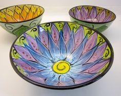 Handmade Ceramic Clay Majolica Pottery by ClayLickCreekPottery Earthenware Clay, Ceramic Clay, Ceramic Bowls, Pottery Painting, Ceramic Painting, Pottery Bowls, Ceramic Pottery, Paint Your Own Pottery, Bowl Designs