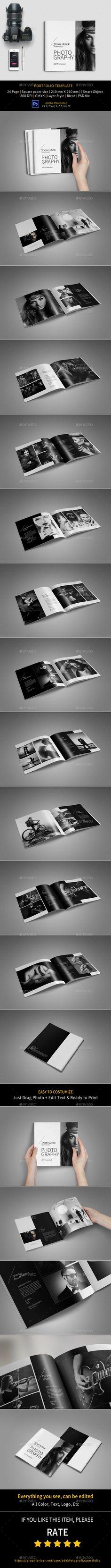 Portfolio Photographer - Portfolio Brochures Download here : https://graphicriver.net/item/portfolio-photographer/19414609?s_rank=139&ref=Al-fatih