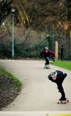 the race - Longboarding in Crystal Palace Park