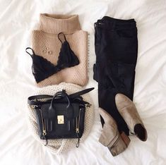 Discovered by Adventure. Find images and videos about fashion, outfit and clothes on We Heart It - the app to get lost in what you love. Fashion Moda, Look Fashion, Womens Fashion, Fashion 2016, Trendy Fashion, Fall Winter Outfits, Autumn Winter Fashion, Casual Outfits, Cute Outfits