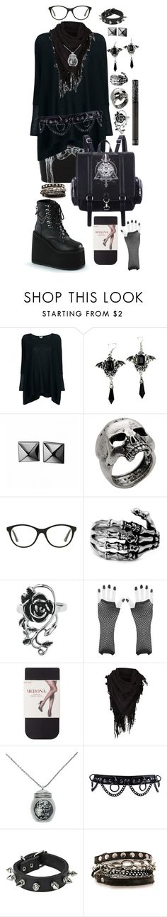 """""""Tough Girl"""" by gon3-batty ❤ liked on Polyvore featuring Iron Fist, Helmut Lang, Waterford, John Richmond, Vogue, AllSaints, Mi Lajki and Kat Von D"""