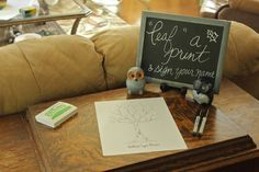 Baby Shower or party- leave your fingerprint as a leaf on the tree and sign it!