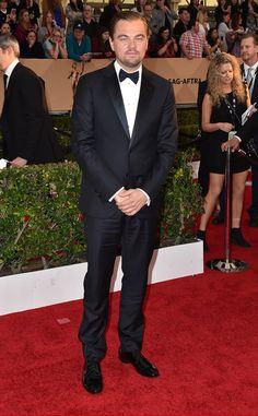 Leonardo DiCaprio from SAG Awards 2016: Red Carpet Arrivals  In Armani
