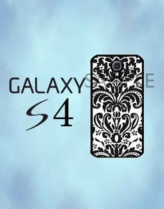 Samsung Galaxy S4 Case - Black and White Damask Galaxy Case - Samsung Galaxy S4 Case