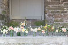 A Coombe Trenchard English Garden Party with Blue Fizz Events Flowers In Jars, Floating Flowers, Flower Jars, Garden Party Wedding, Spring Wedding, Vintage Crockery, Wedding Inspiration, Wedding Ideas, Plan Your Wedding