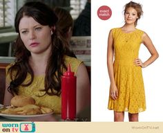 Belle's yellow lace dress as worn on Once Upon a Time is available to buy for $268