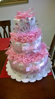 Baby shower ides for girls themes purple lavender tutus 58 ideas Baby shower ides for girls themes purple lavender tutus 58 ideas, Diy Diaper Cake, Nappy Cakes, Shower Bebe, Girl Shower, Dipper Cakes, Princess Diaper Cakes, Pamper Cake, Baby Shower Crafts, Shower Gifts