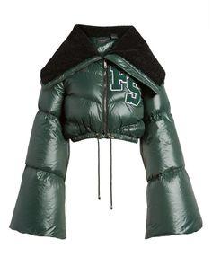 Women's Fenty Puma By Rihanna Crop Puffer Jacket Outerwear Jackets, Cropped Jackets, Winter Coat Outfits, Shearling Jacket, Fur Jacket, Rihanna Fenty, Puffy Jacket, Fenty Puma, Dressing Rooms