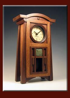 Cats Eye Craftsman -- Fine Clocks in the Craftsman Tradition Craftsman Clocks, Craftsman Style Furniture, Mission Style Furniture, Craftsman Decor, Craftsman Style Homes, Wood Clocks, Antique Clocks, William Morris, Arts And Crafts Furniture