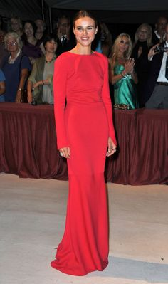 Kasia Smutniak wore Armani Privé at the premiere of The Reluctant Fundamentalist at the 69th Venice Film Festival.  Source: Getty