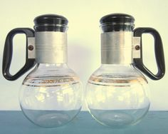 matched set of 1960s Silex coffee carafes