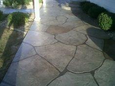Looks Like Stone But It S Concrete Paint Concrete Patio Painted Patio Painting Concrete