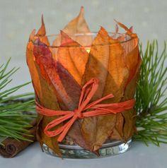 Jesienny świecznik DIY #candle #fall