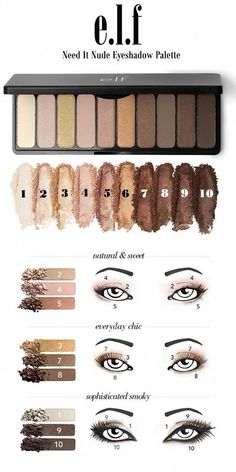 Hottest Rating - Natural Eye Looks With Elf Need It Nude Eyeshadow P . - Hottest rating – Natural eye looks with Elf Need It Nude eyeshadow palette, - Brown Eyeshadow Palette, Nude Eyeshadow, Eyeshadow Tips, Nars Palette, Simple Eyeshadow, Elf Palette, Eyeshadow Tutorial Natural, Beginner Eyeshadow, Maybelline Eyeshadow