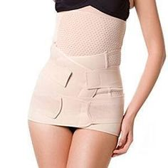 5b0cb9f3d9064 Amazon.com  Healthcom 3 in 1 Postpartum Recoery Girdle Belt Breathable  Elastic Postnatal Support ¨C Recovery Belly waist pelvis Belt Shapewear  Waist Belt ...