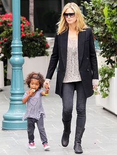 Heidi Klum with daughter Lou Samuel, Just realized her daughter has the same middle name as my son