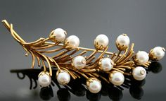 Vintage 1950s Tiffany & Co 18k Yellow Gold Pearl