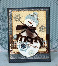 MERRY CHRISTMAS*** Bo Bunny Press - Snowfall Collection