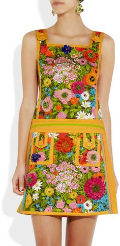Moschino floral print mini dress