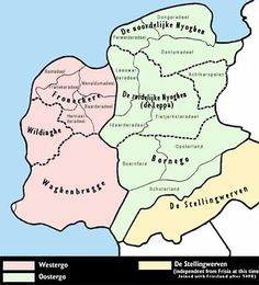 grietenijen in friesland rond 1200