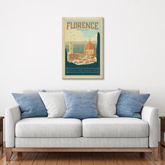 Florence, Italy (Basilica di Santa Maria del Fiore) Professionally printed on museum-grade canvas, this rustic piece offers a warm and charming decorative aesthetic, as well as nostalgia and wanderlust for the gr...