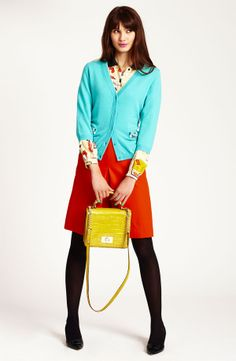 kate spade new york cardigan, blouse & skirt