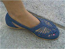 Zapatos de ganchillo.