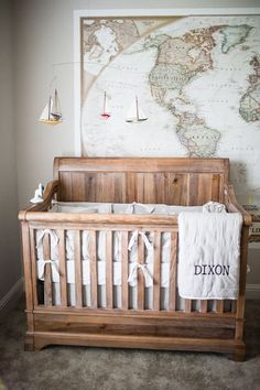 adventure inspired baby boy nursery idea