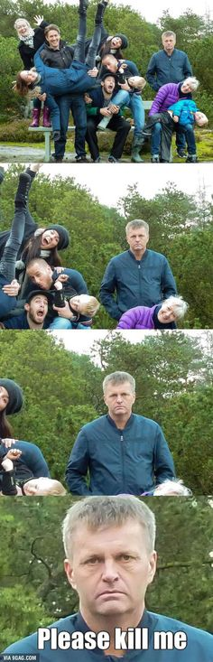 Come on, dad One silly one! 19 Family Photos Gone Wrong very Very Wrong – Humor bilder Funny Cute, Really Funny, Super Funny, Awkward Family Photos, Family Pictures, Funny Memes, Jokes, Funny Fails, Have A Laugh