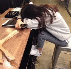 Image via We Heart It #fashion #girl #sad #sleepy #tired