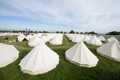Bell tent village glamping...on a huge scale
