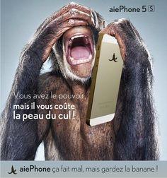 Parodie de la pub iPhone 5s, apple va être content :), pour les pistes à suivre dans leurs prochaines communications. http://www.idole.net/fausses-pub/parodie-iphone-apple.html