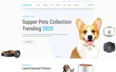Animart Pet Shop Care Website Template Pet Clinic, Grid System, Christmas Animals, Online Shopping Stores, Website Template, Animal Shelter, Pet Care, Cute Babies, Corgi