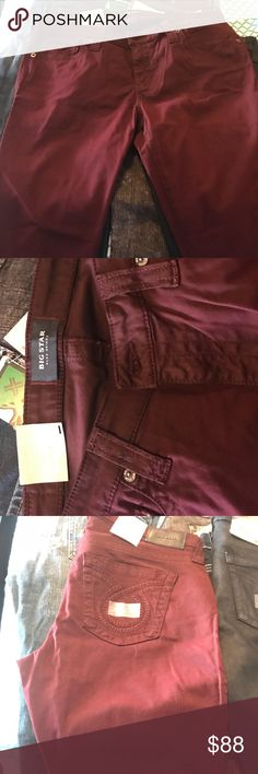 Extra Soft Red Big Star Jeans Extra Soft Red Big Star Jeans, brand new size 32 Big Star Jeans