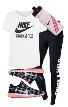 """Nike Track And Field"" by alannah-reilly ❤ liked on Polyvore featuring NIKE"