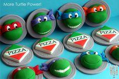 Teenaged Mutant Ninja Turtles cupcake #topper  From Sugar High Inc.