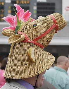 """I found this laundry basket lid at the import store and I immediately thought, """"OMG - this would make a great hat for the Derby!""""  --  Kentucky Derby 2012: Craziest racing hats ever - NY Daily News"""