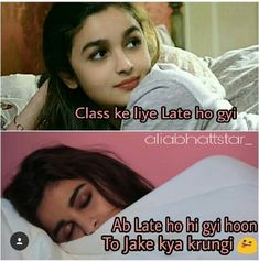 U-HAN Exam Quotes Funny, Cute Funny Quotes, Funny Jokes, Girly Attitude Quotes, Girly Quotes, Swing Star, Studying Funny, Bollywood Funny, Funny Insults