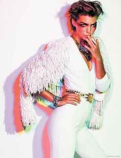 Glam Rock. Arizona Muse Vogue Paris December 2011