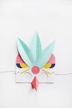 Lucille Michieli paper mask ball