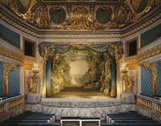 """her-majesty-the-queen: """" Marie Antoinette's theatre in the Petit Trianon château of the Palace of Versailles. Chateau Versailles, Palace Of Versailles, Marie Antoinette, Queens Theatre, Toy Theatre, Movie Theater, Design Exterior, French History, French Chateau"""