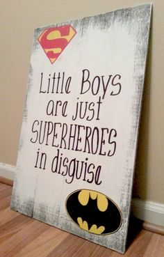 Supernan Superhero Kids Chic Shabby Cute Wooden Sign Rustic Home Decor
