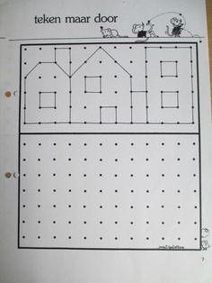 Huizen tekenen op roosterpapier